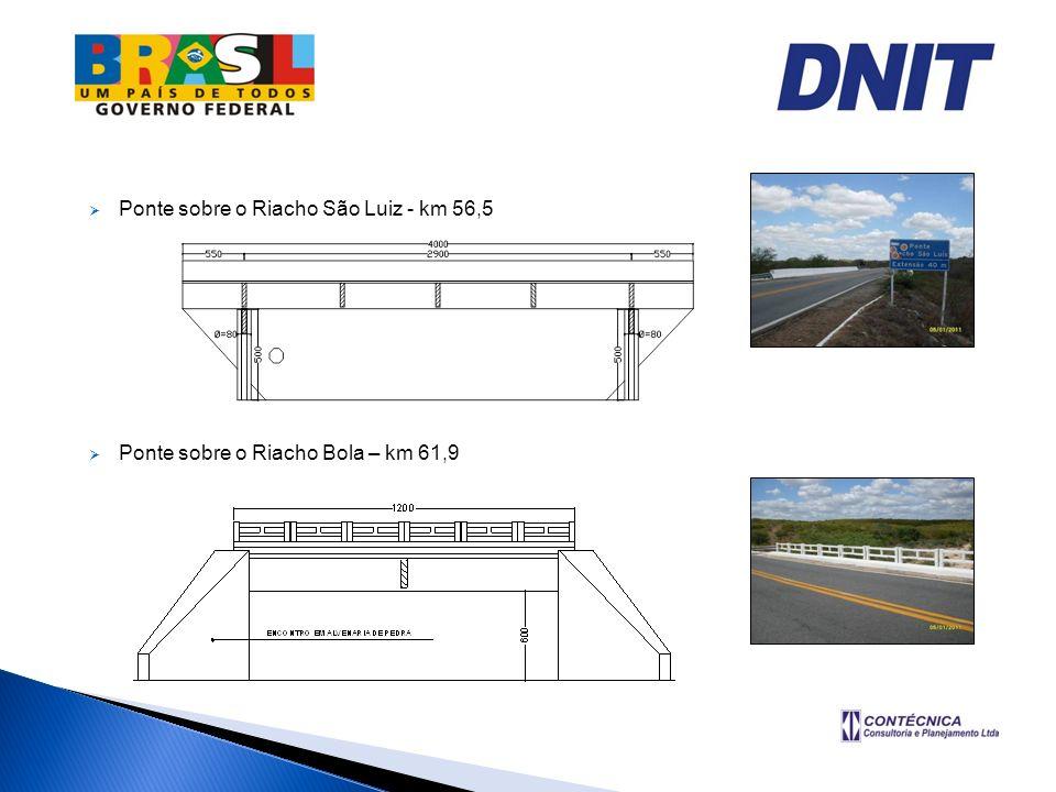 Ponte sobre o Riacho São Luiz - km 56,5
