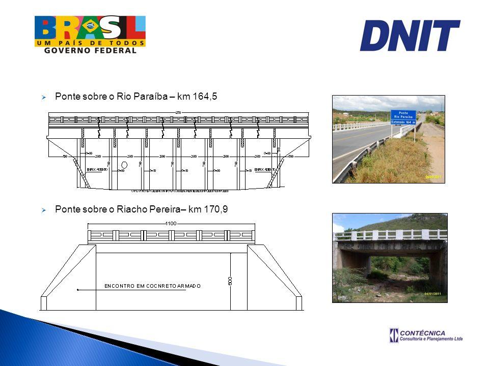 Ponte sobre o Rio Paraíba – km 164,5