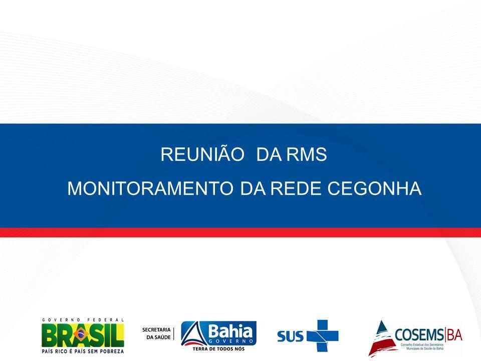 REUNIÃO DA RMS MONITORAMENTO DA REDE CEGONHA
