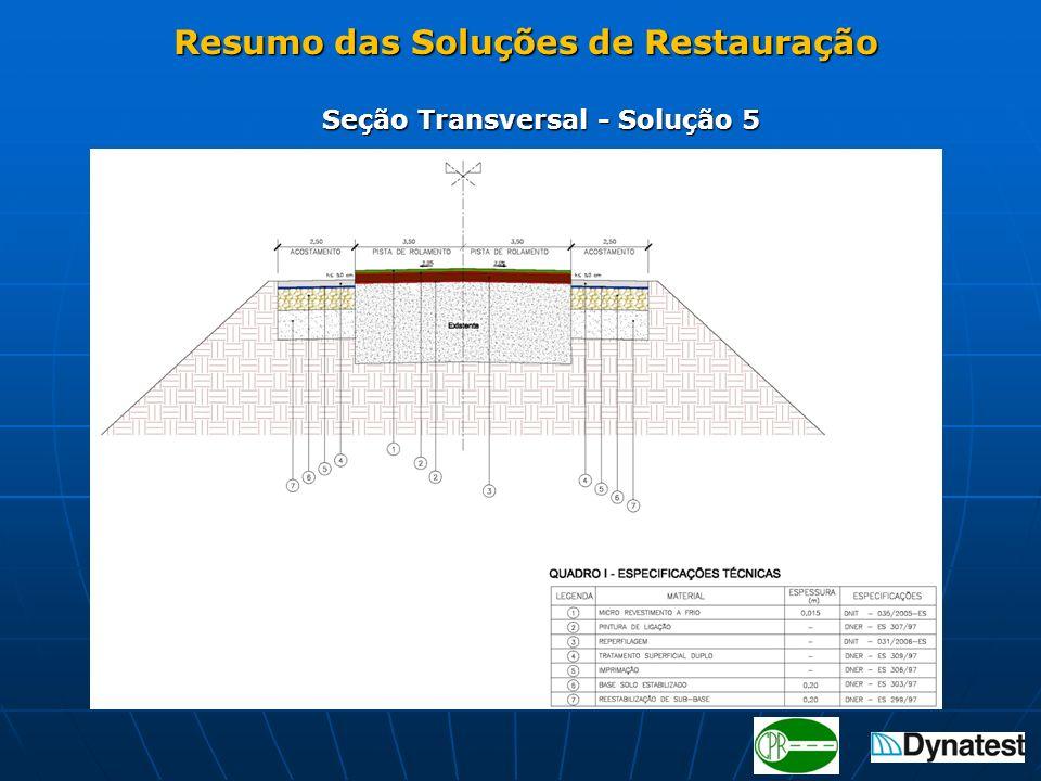 Seção Transversal - Solução 5