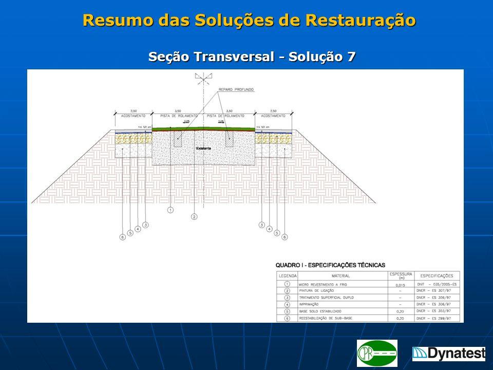 Seção Transversal - Solução 7