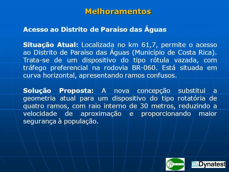 Melhoramentos Acesso ao Distrito de Paraíso das Águas.