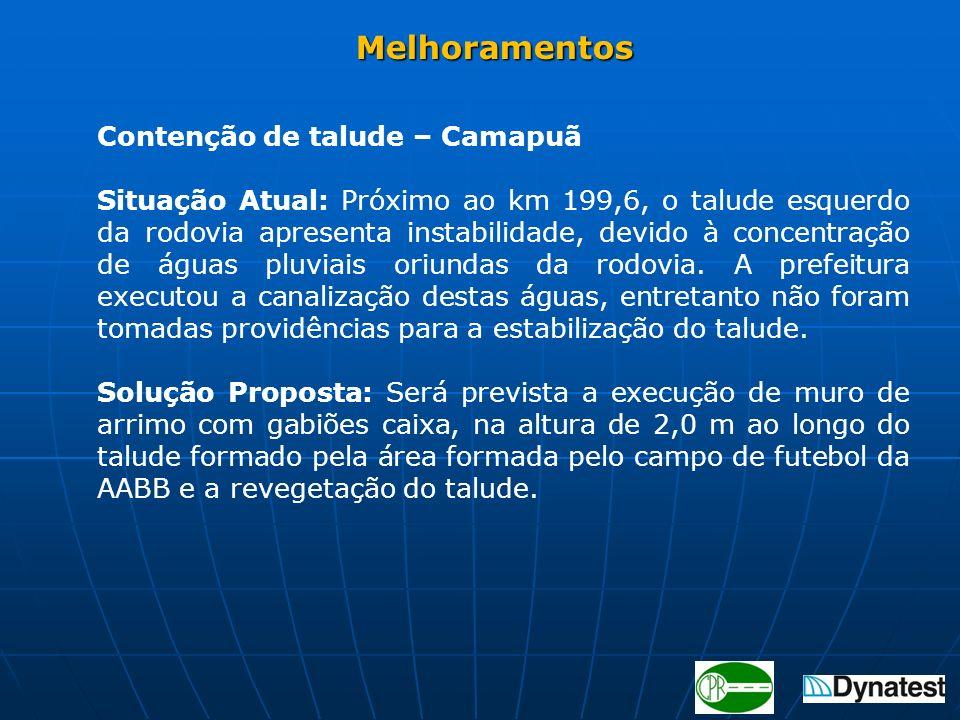 Melhoramentos Contenção de talude – Camapuã.