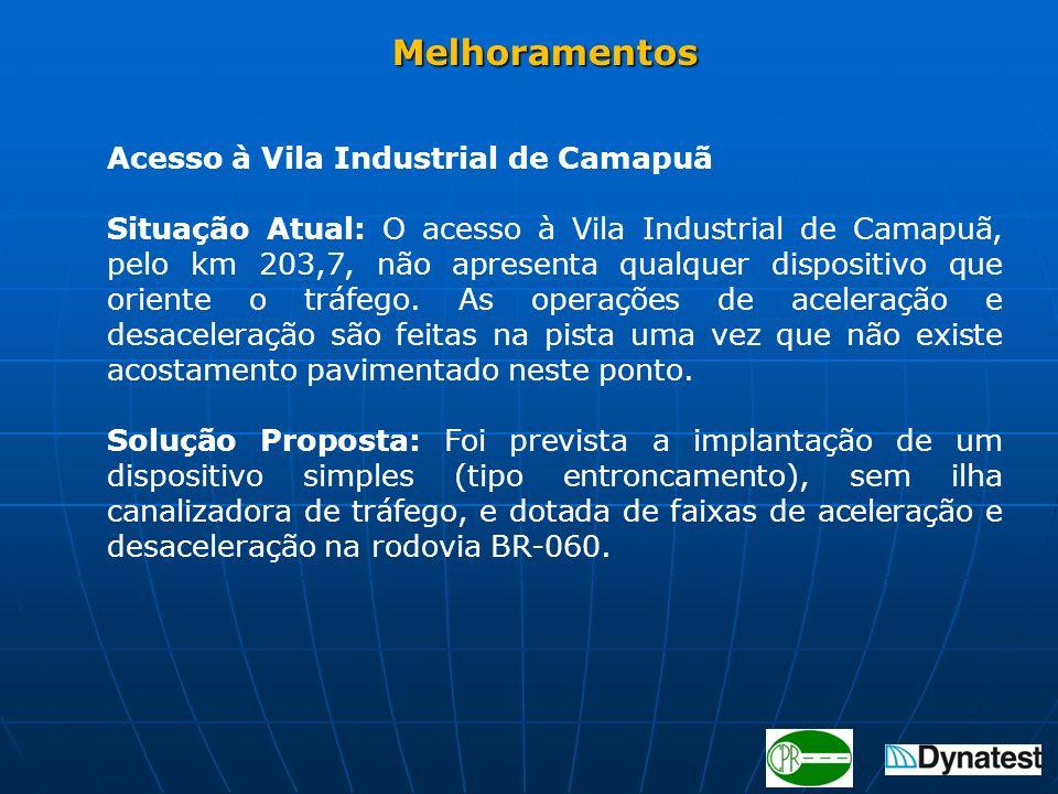 Melhoramentos Acesso à Vila Industrial de Camapuã.
