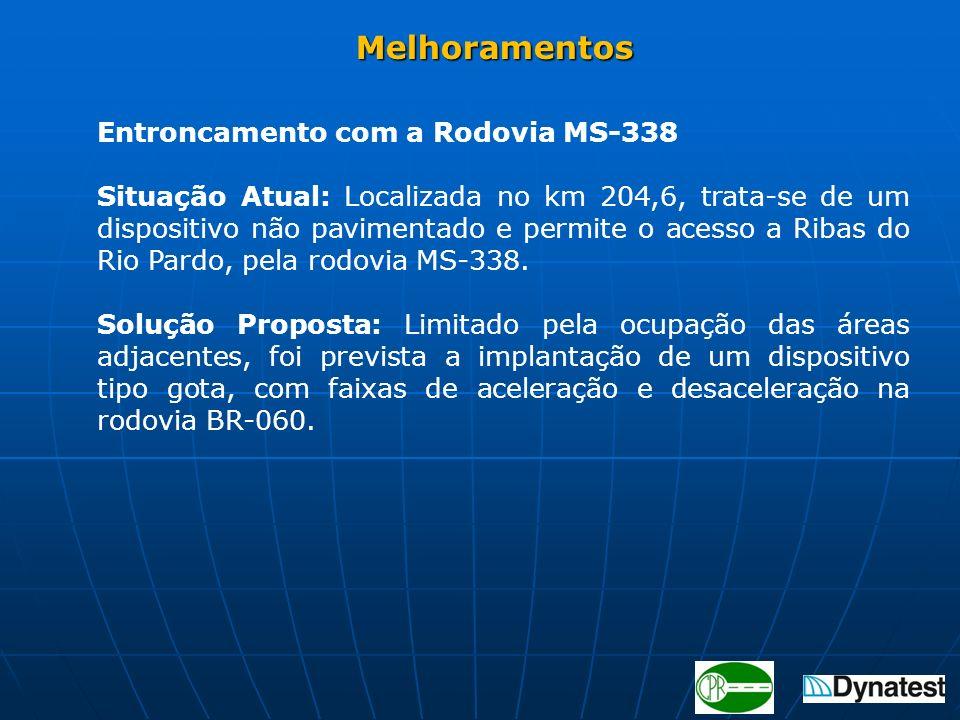 Melhoramentos Entroncamento com a Rodovia MS-338.