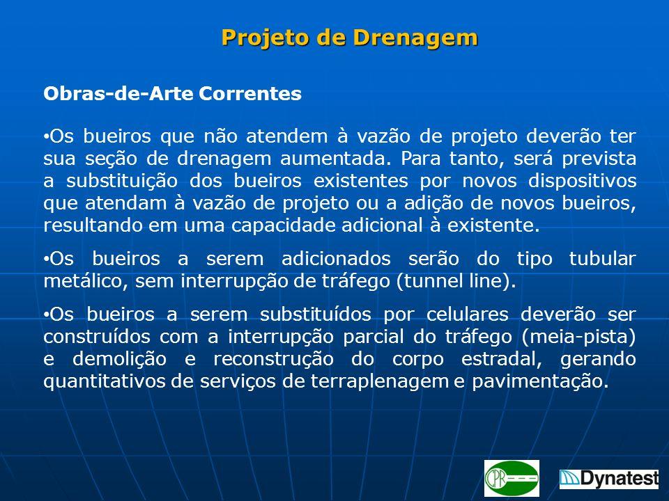 Projeto de Drenagem Obras-de-Arte Correntes.