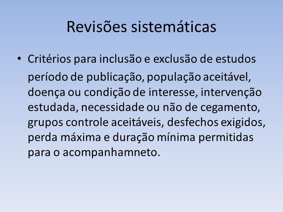 Revisões sistemáticas