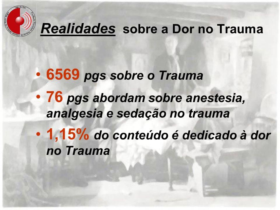 Realidades sobre a Dor no Trauma