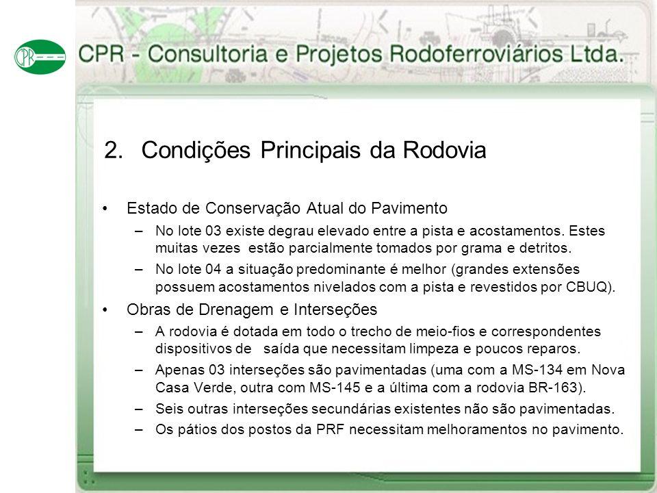 2. Condições Principais da Rodovia