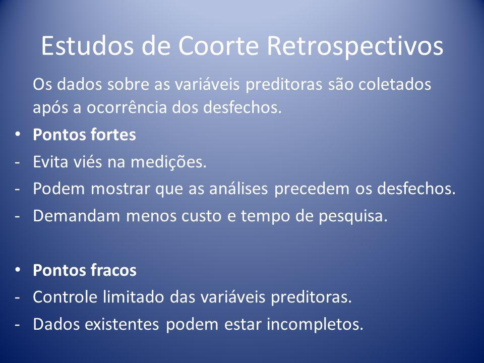 Estudos de Coorte Retrospectivos