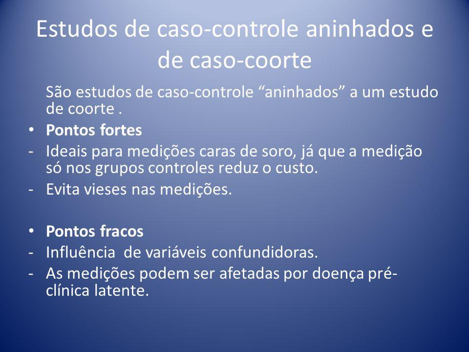 Estudos de caso-controle aninhados e de caso-coorte