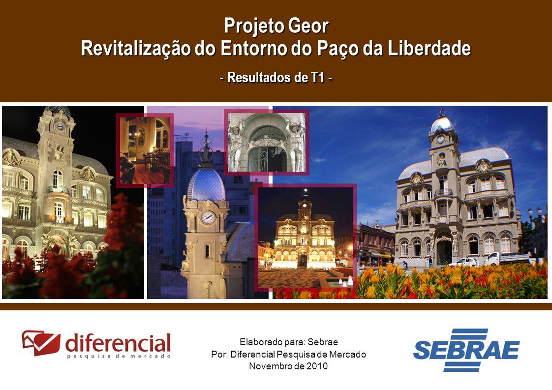 Projeto Geor Revitalização do Entorno do Paço da Liberdade - Resultados de T1 -