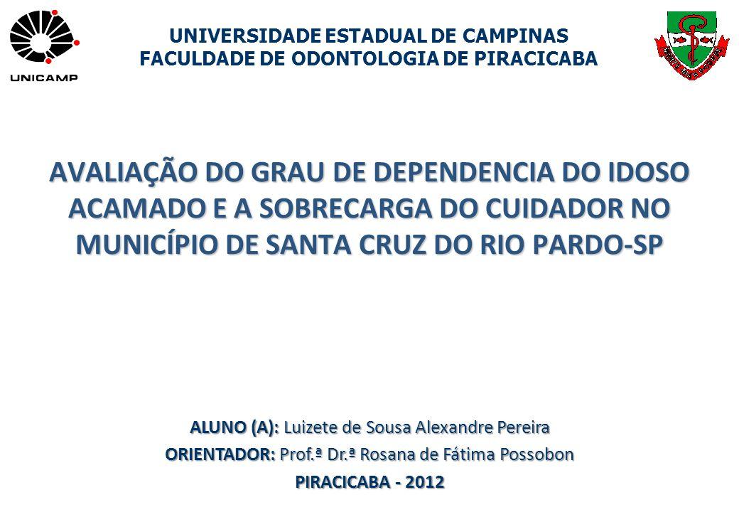 AVALIAÇÃO DO GRAU DE DEPENDENCIA DO IDOSO ACAMADO E A SOBRECARGA DO CUIDADOR NO MUNICÍPIO DE SANTA CRUZ DO RIO PARDO-SP