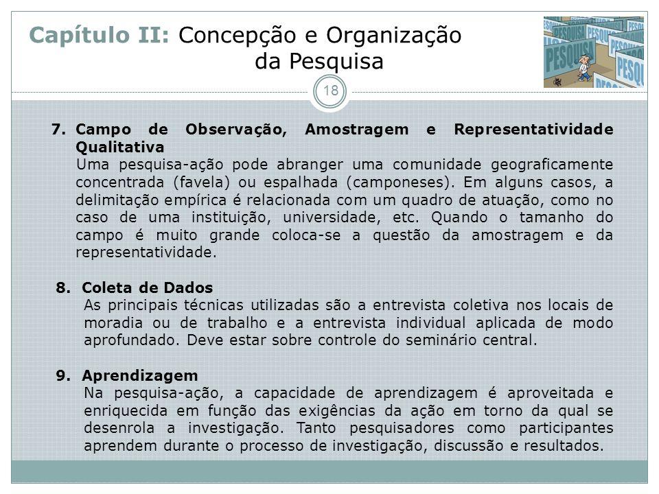 Capítulo II: Concepção e Organização da Pesquisa