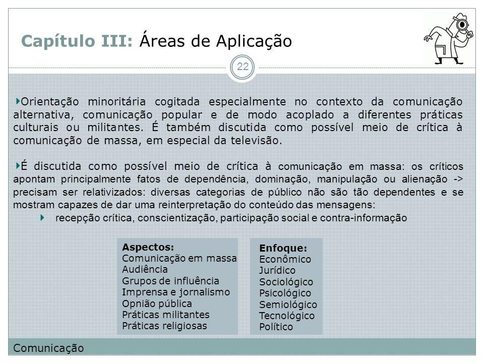 Capítulo III: Áreas de Aplicação