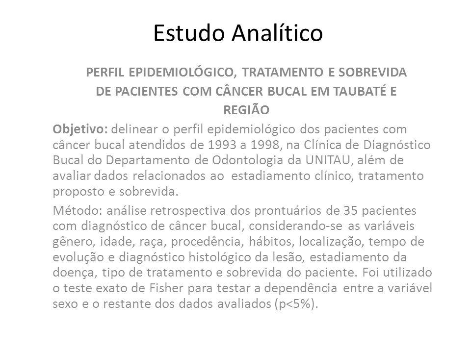 Estudo Analítico PERFIL EPIDEMIOLÓGICO, TRATAMENTO E SOBREVIDA