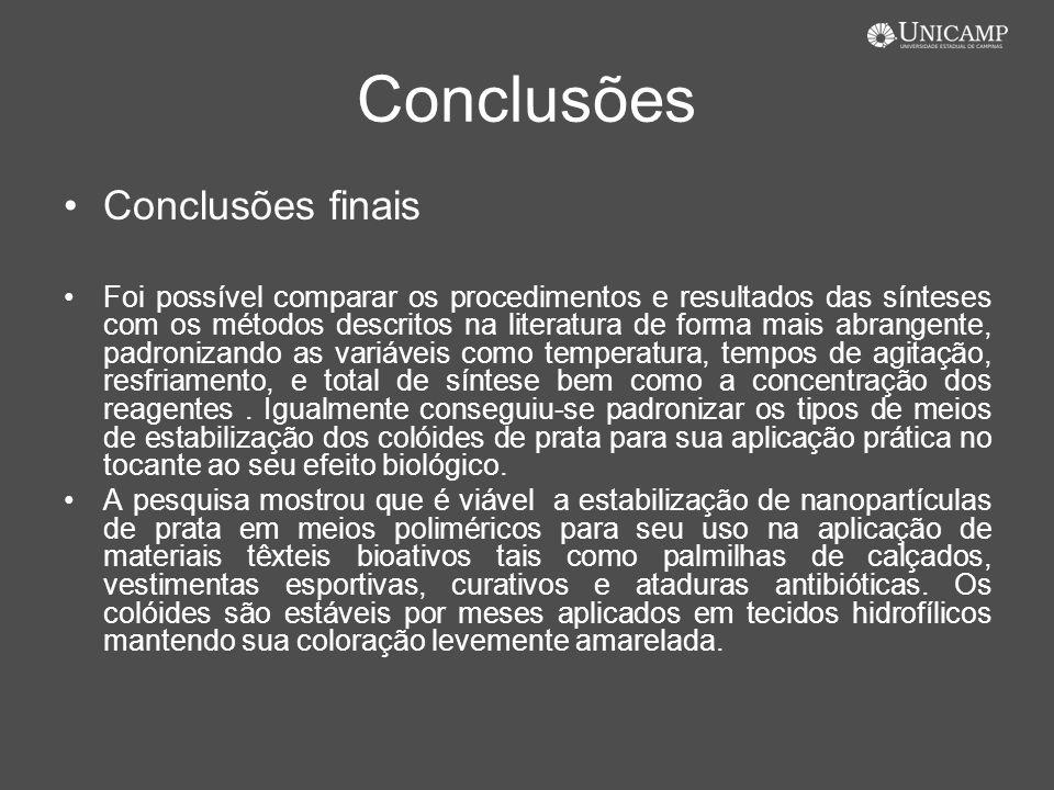 Conclusões Conclusões finais
