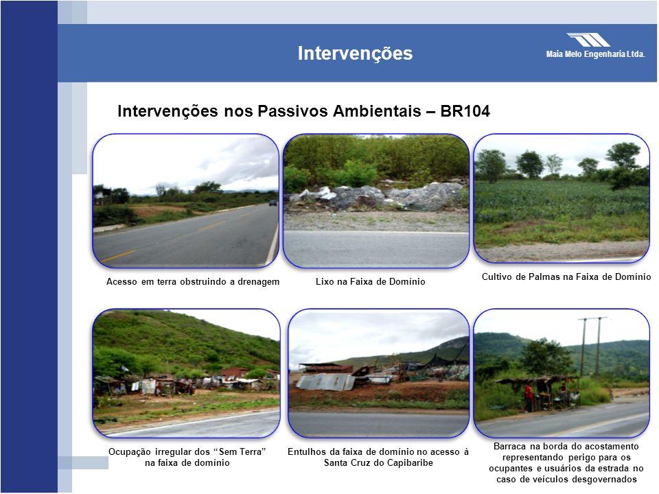 Intervenções Intervenções nos Passivos Ambientais – BR104