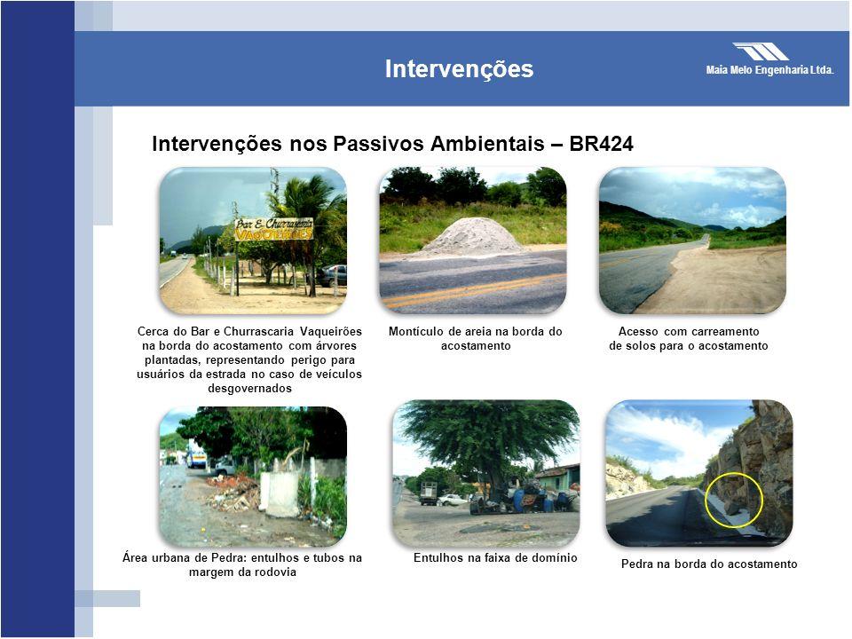 Intervenções Intervenções nos Passivos Ambientais – BR424