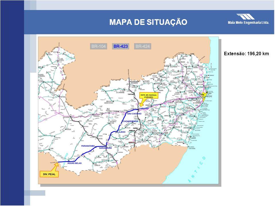 MAPA DE SITUAÇÃO Extensão: 196,20 km