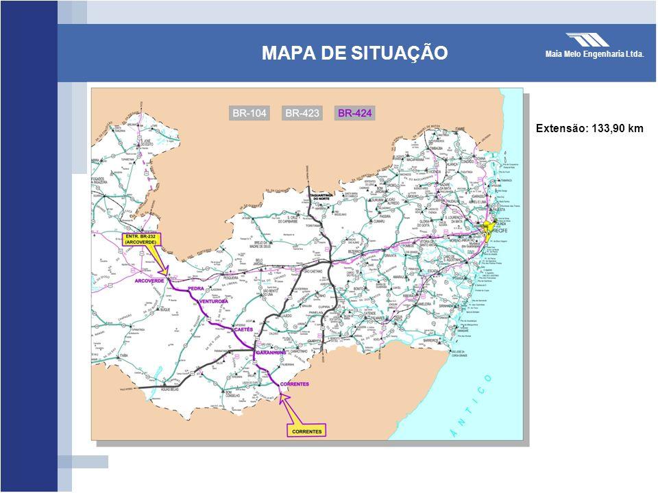 MAPA DE SITUAÇÃO Extensão: 133,90 km