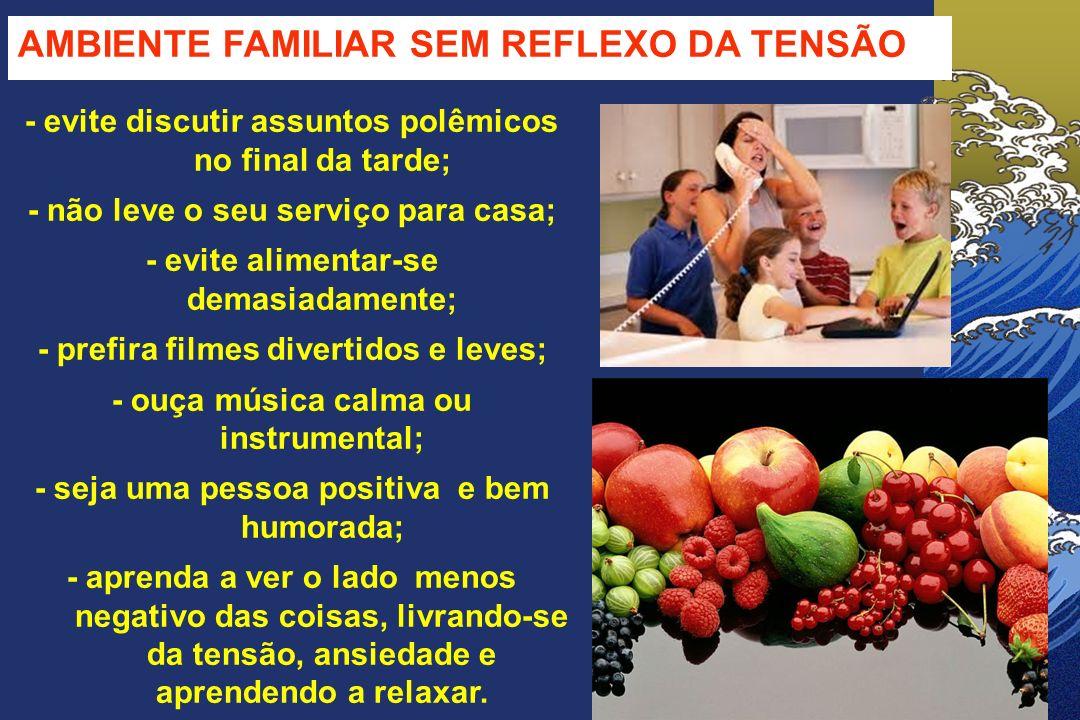 AMBIENTE FAMILIAR SEM REFLEXO DA TENSÃO