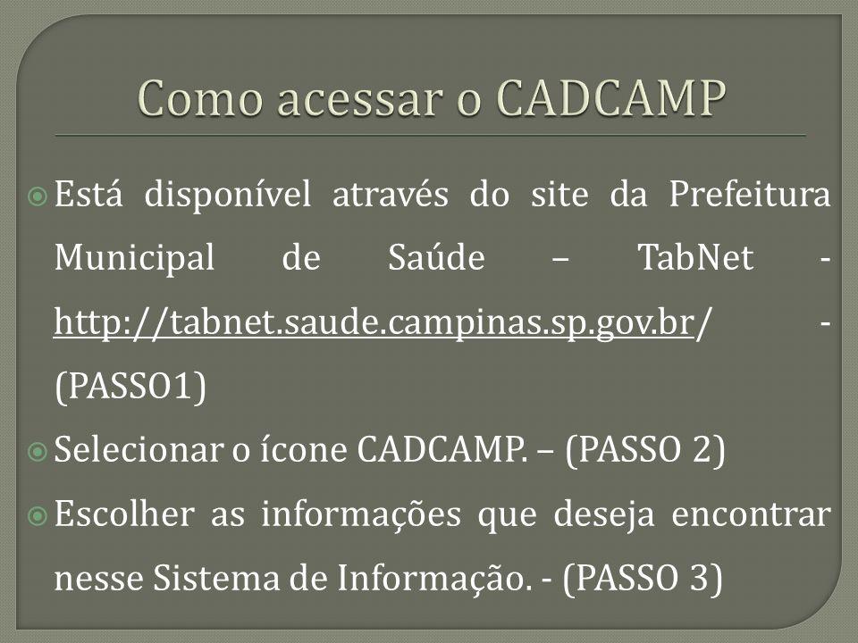 Como acessar o CADCAMP