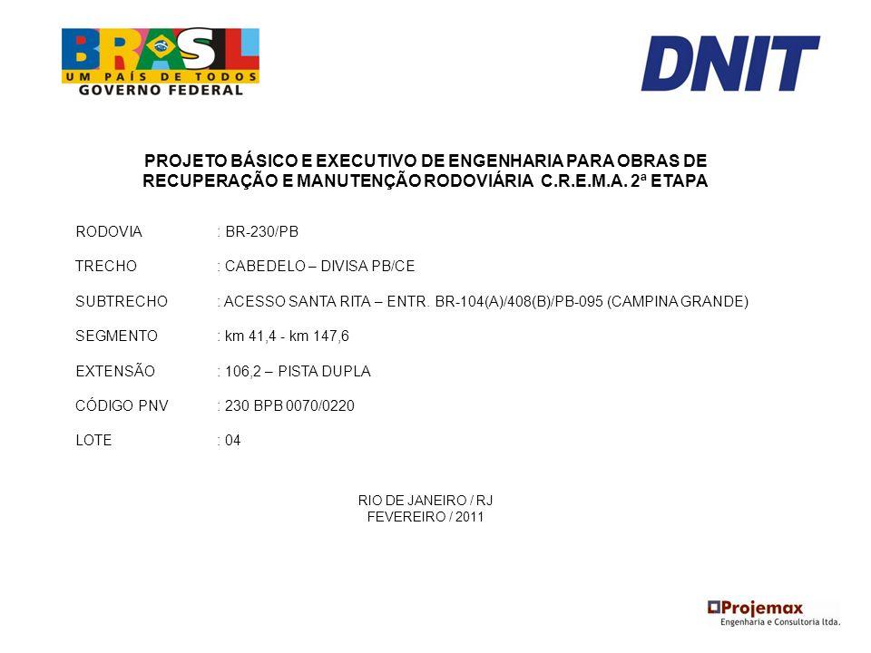 PROJETO BÁSICO E EXECUTIVO DE ENGENHARIA PARA OBRAS DE