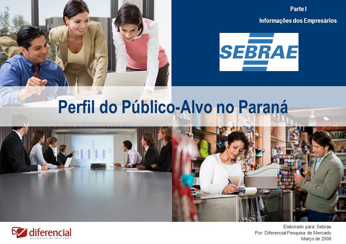 Informações dos Empresários Perfil do Público-Alvo no Paraná
