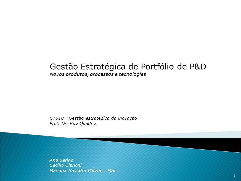 Gestão Estratégica de Portfólio de P&D