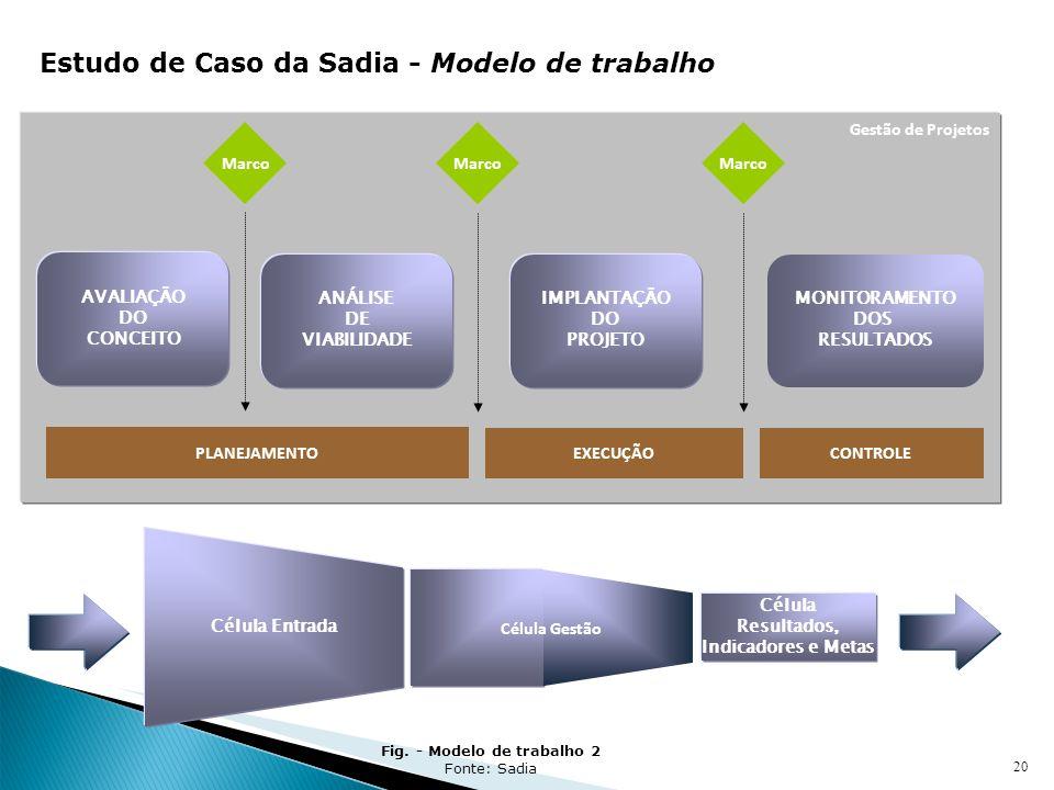 Fig. - Modelo de trabalho 2