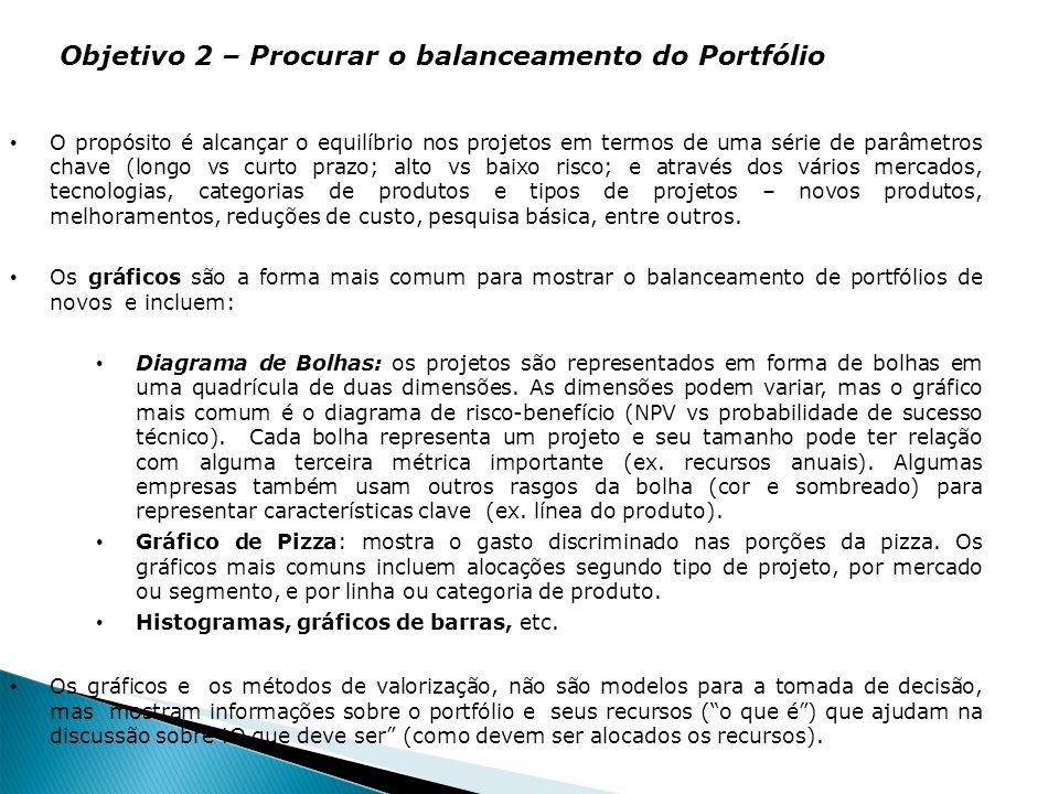 Objetivo 2 – Procurar o balanceamento do Portfólio