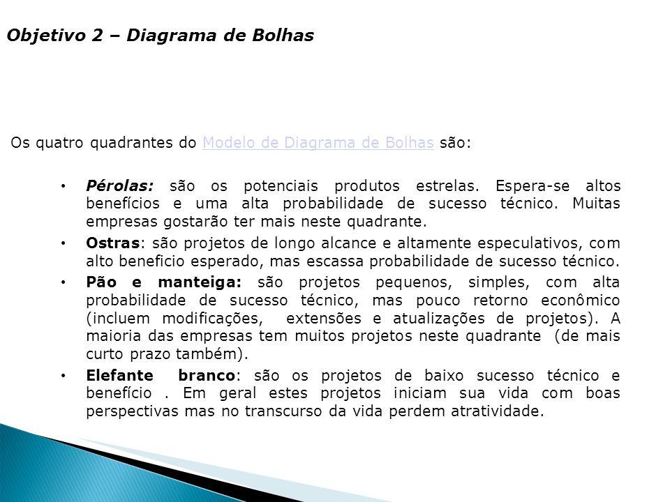 Objetivo 2 – Diagrama de Bolhas