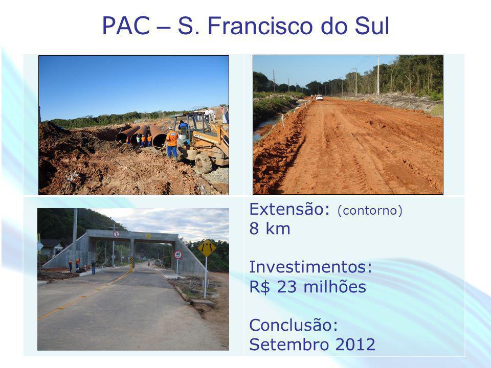PAC – S. Francisco do Sul Extensão: (contorno) 8 km
