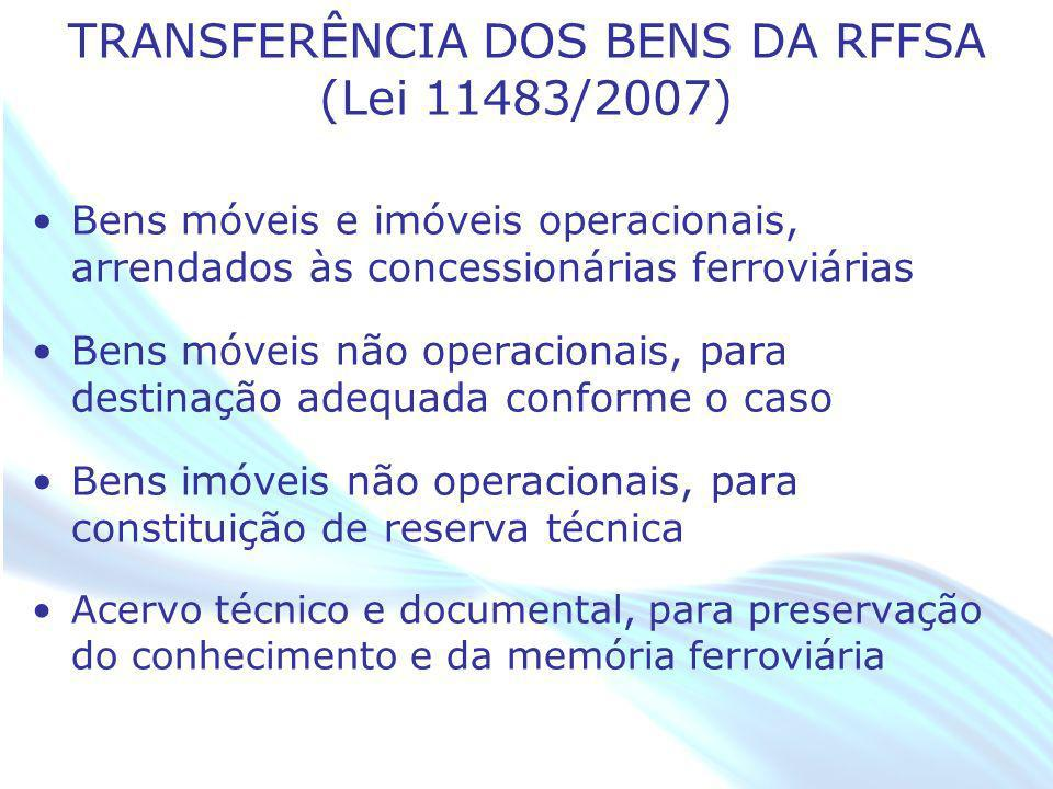 TRANSFERÊNCIA DOS BENS DA RFFSA (Lei 11483/2007)