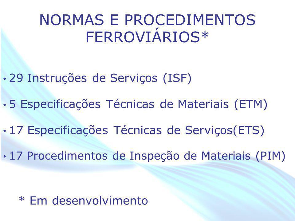 NORMAS E PROCEDIMENTOS FERROVIÁRIOS*