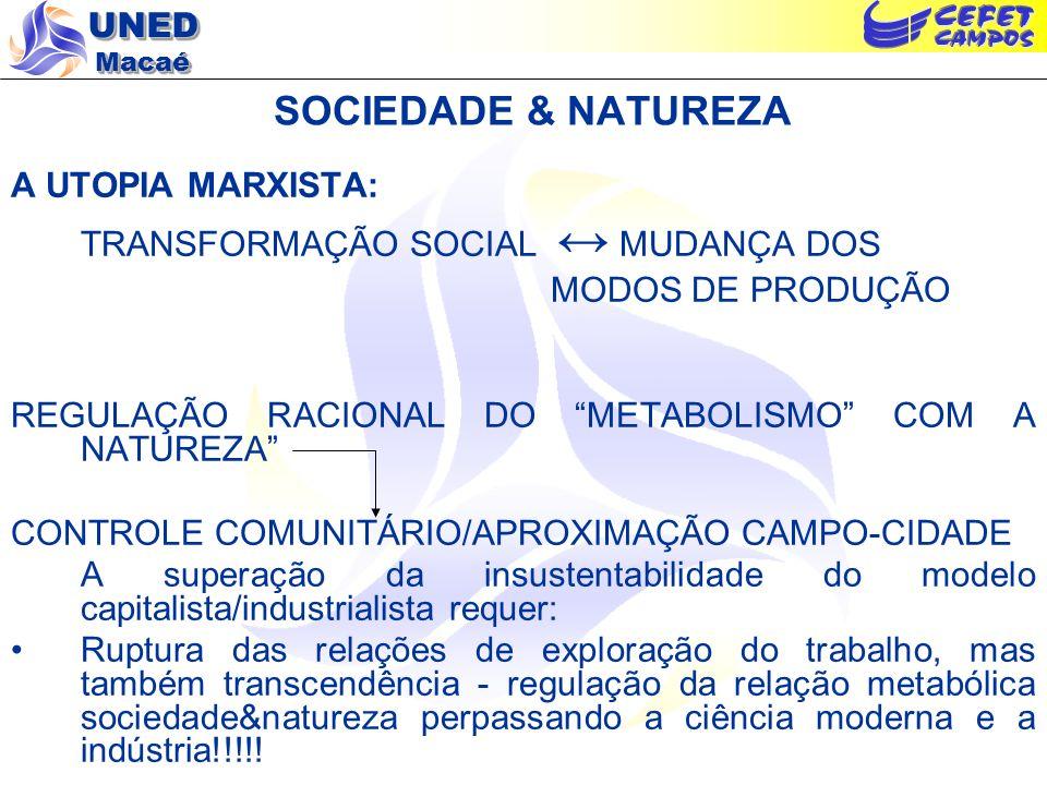 SOCIEDADE & NATUREZA A UTOPIA MARXISTA: