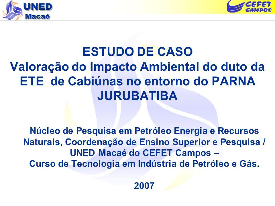Curso de Tecnologia em Indústria de Petróleo e Gás.