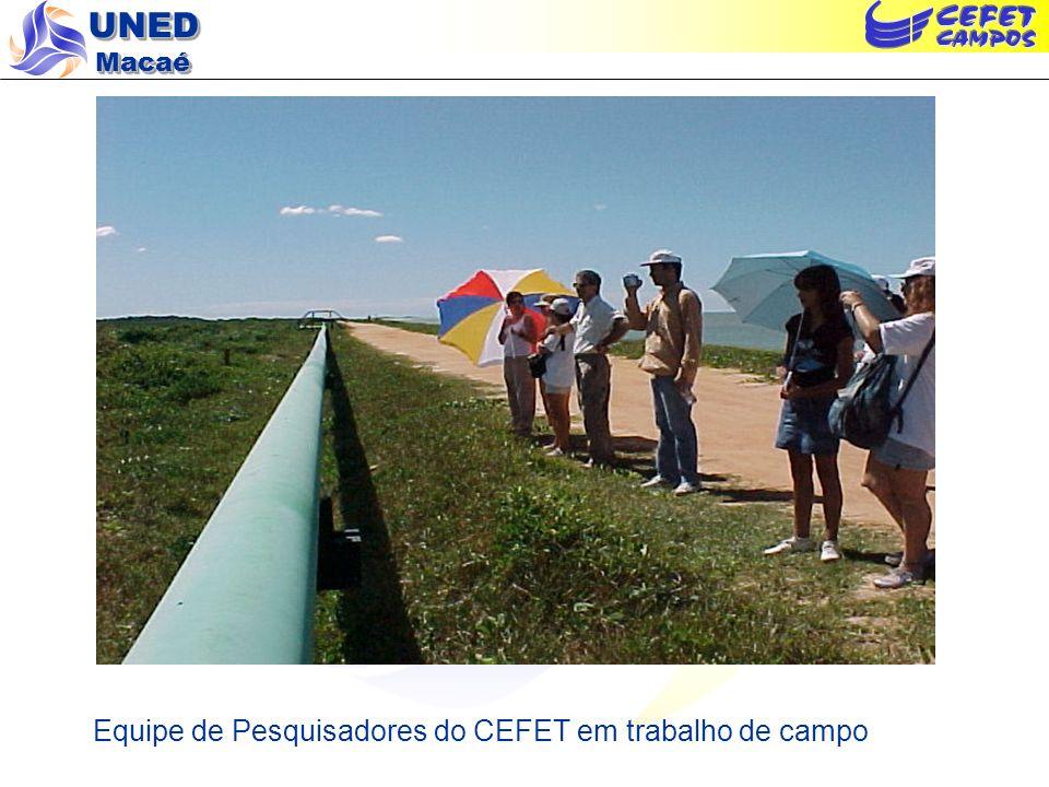 Equipe de Pesquisadores do CEFET em trabalho de campo