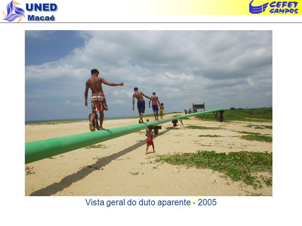 Vista geral do duto aparente - 2005