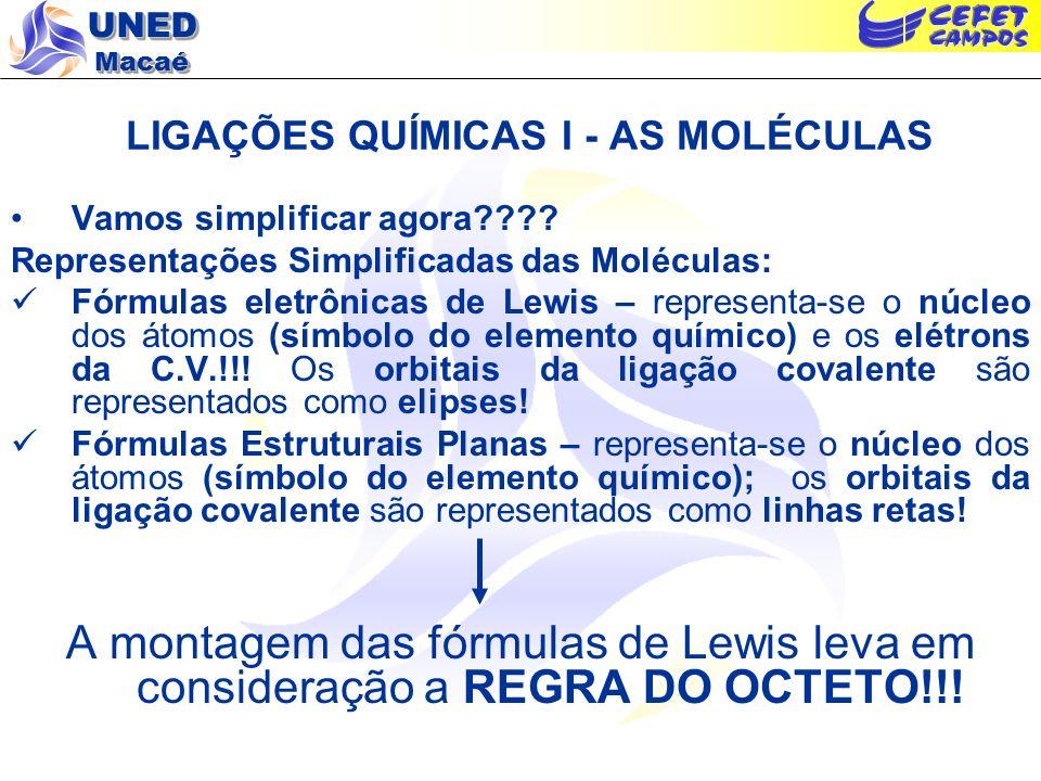 LIGAÇÕES QUÍMICAS I - AS MOLÉCULAS