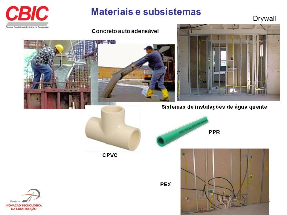 Materiais e subsistemas