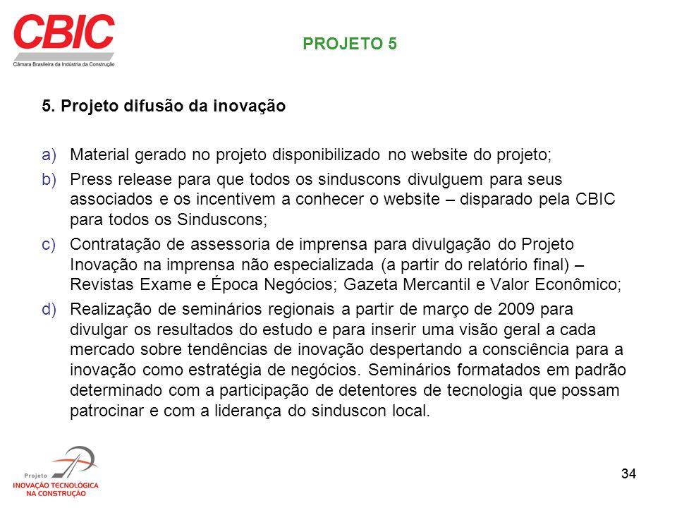 5. Projeto difusão da inovação