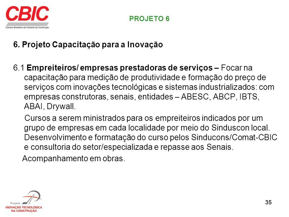 6. Projeto Capacitação para a Inovação