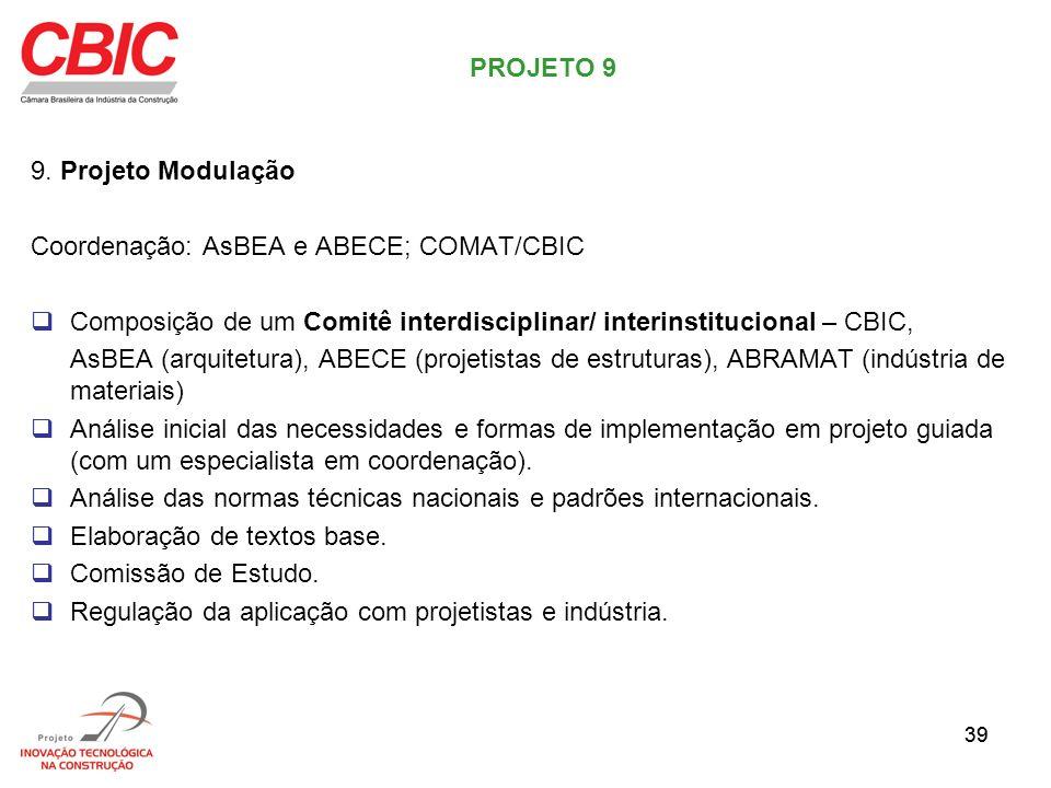 Coordenação: AsBEA e ABECE; COMAT/CBIC