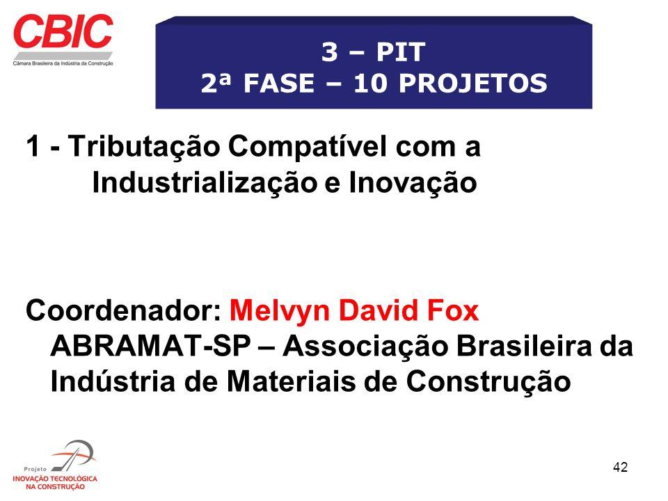 1 - Tributação Compatível com a Industrialização e Inovação