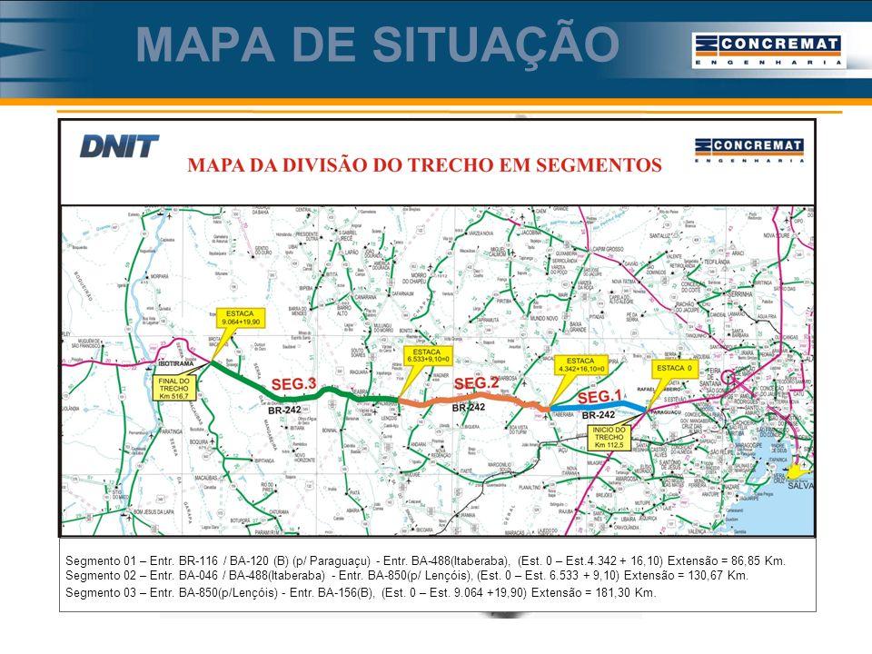 MAPA DE SITUAÇÃO BR-242/BA (Lote-2)