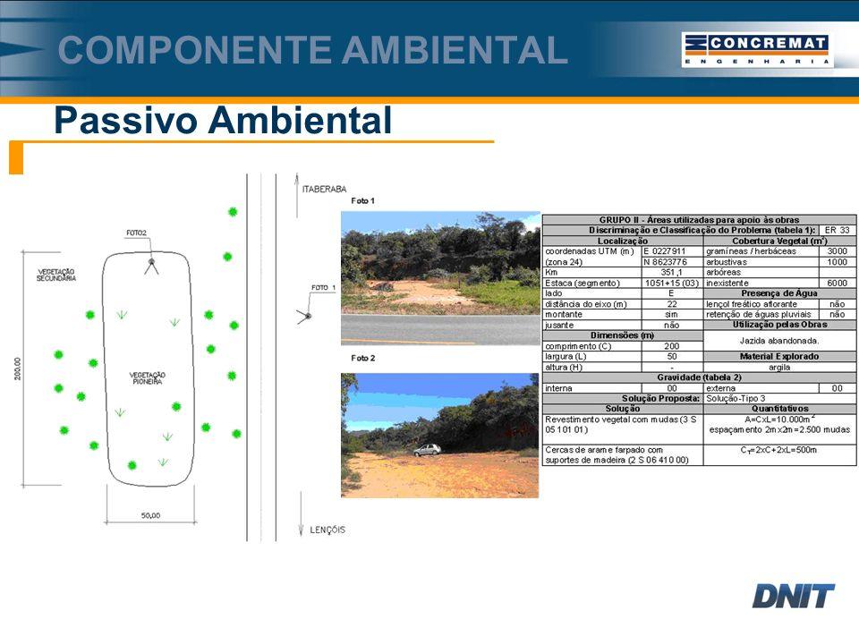 Componente ambiental Passivo Ambiental