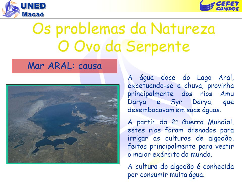 Os problemas da Natureza