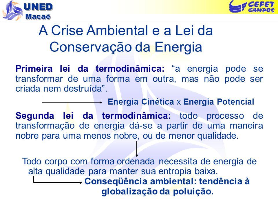 A Crise Ambiental e a Lei da Conservação da Energia